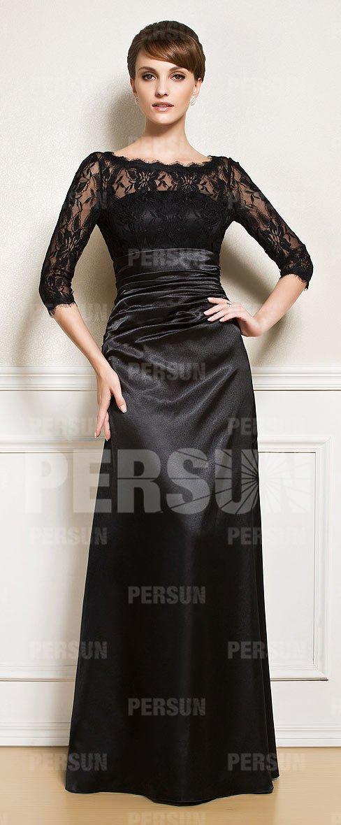 07e7fff014593 Alors, la  robemère belle est nécessaire.https   www.robespourmariage.fr  robe-longue-de-soiree-pour-mariage-noire-encolure-bateau-p-7957.html … ...
