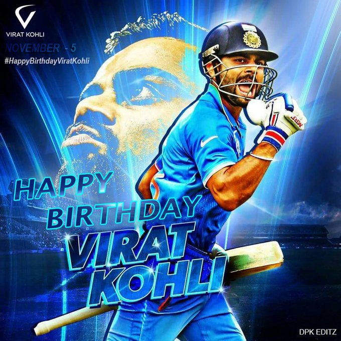 Happy birthday \RUN MACHINE\ virat Kohli.