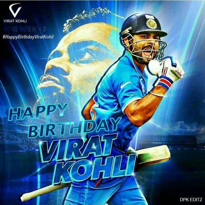 Happy birthday *Virat Kohli*