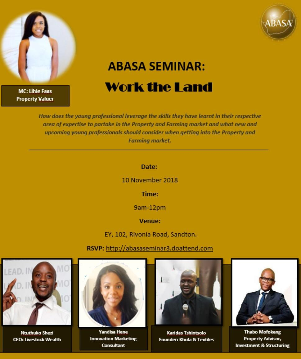 #WorkTheLand and it will work for you. Not to be missed. Spaces are limited pic.twitter.com/aAzTqAYMVi