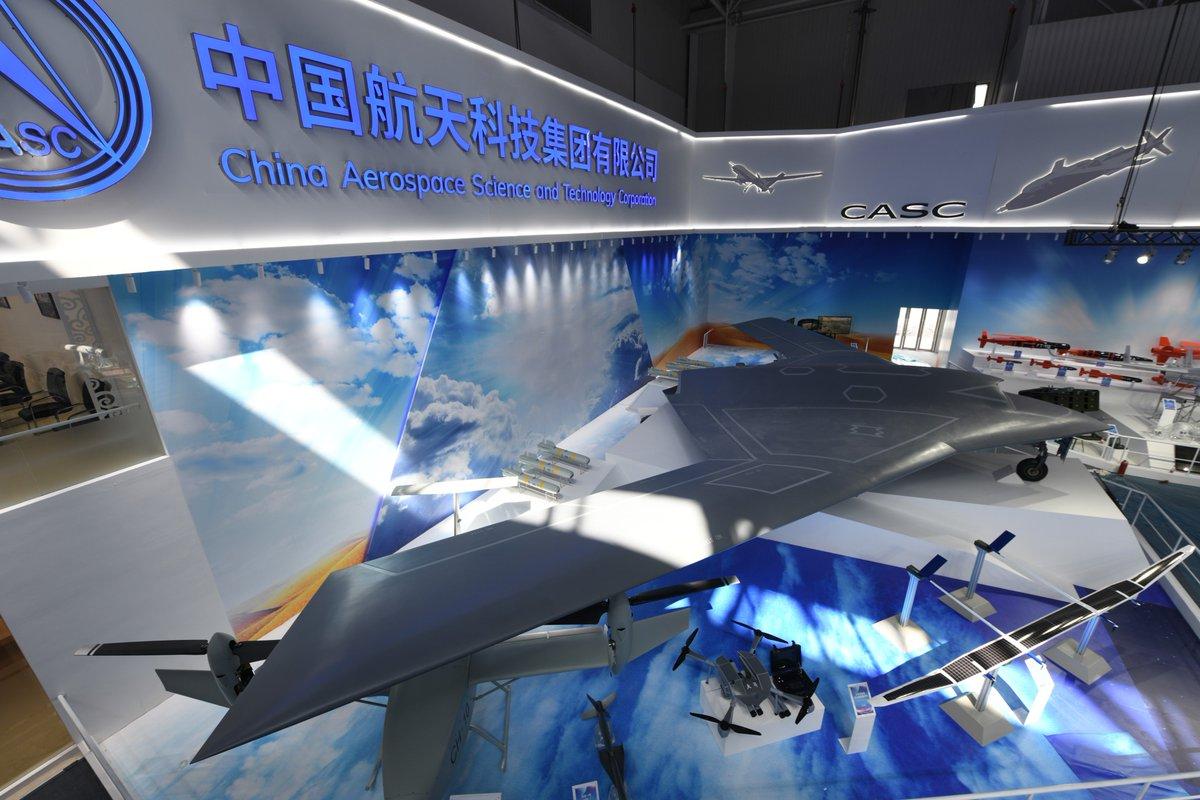 الصين تكشف عن المقاتلة المسيرة الخفية CH-7 DrNiwMrUcAA6B6M