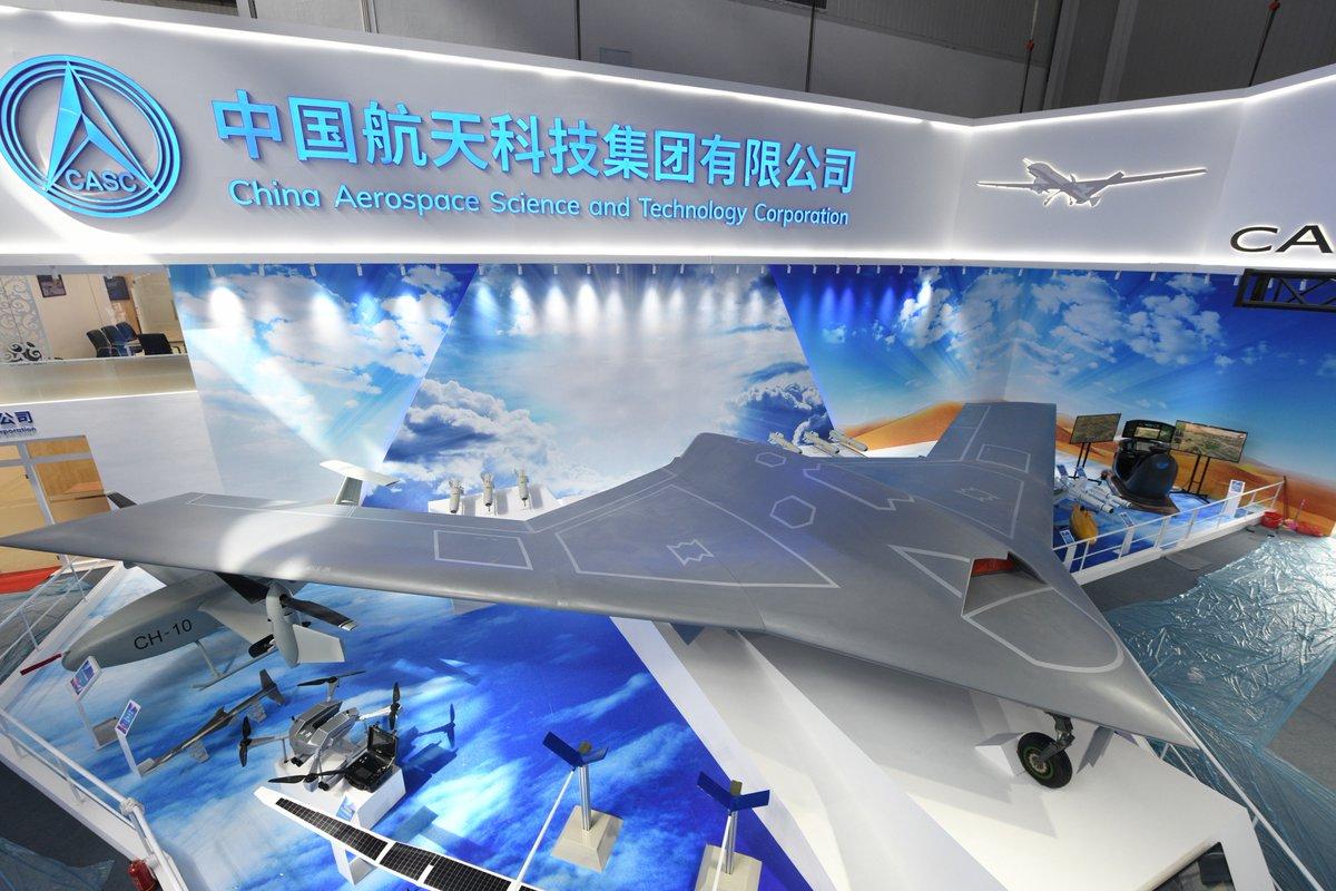 الصين تكشف عن المقاتلة المسيرة الخفية CH-7 DrNixJ6U0AE9JIe