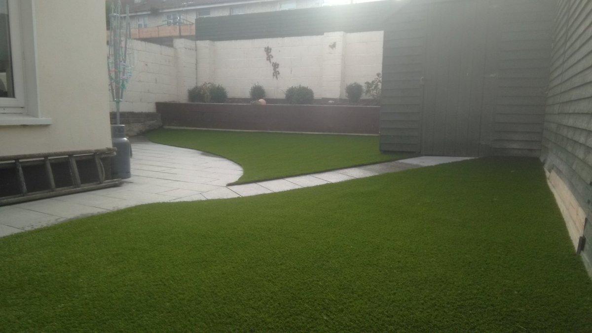 Completed photos of a garden in Rathfarnham with Silk 35 mm artificial grass. #rathfarnham  #Ireland  #gardening  #Dublin  @DubArtificial