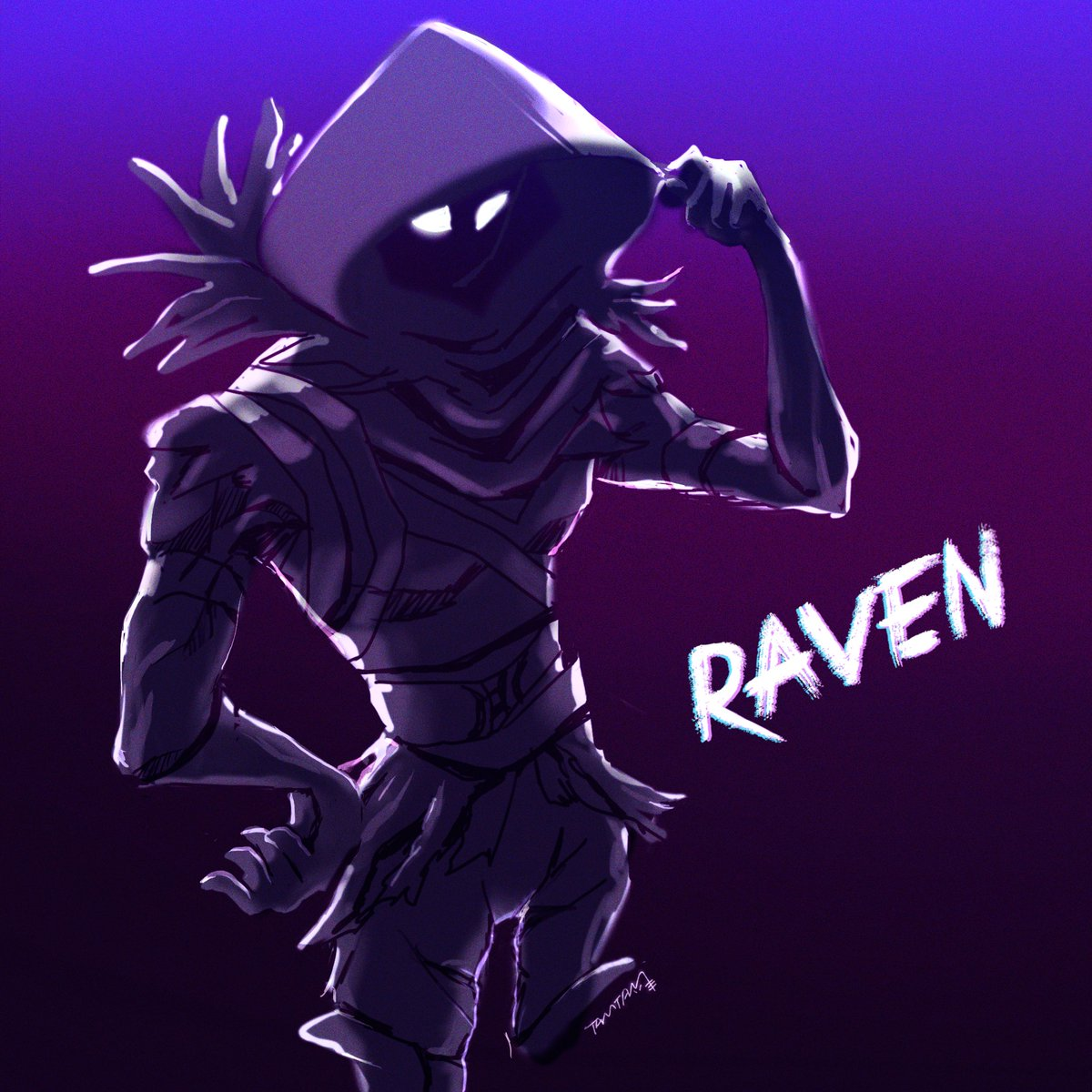 Raven レイヴン ワンドロ フリーアイコン Free Icon Fortniteart