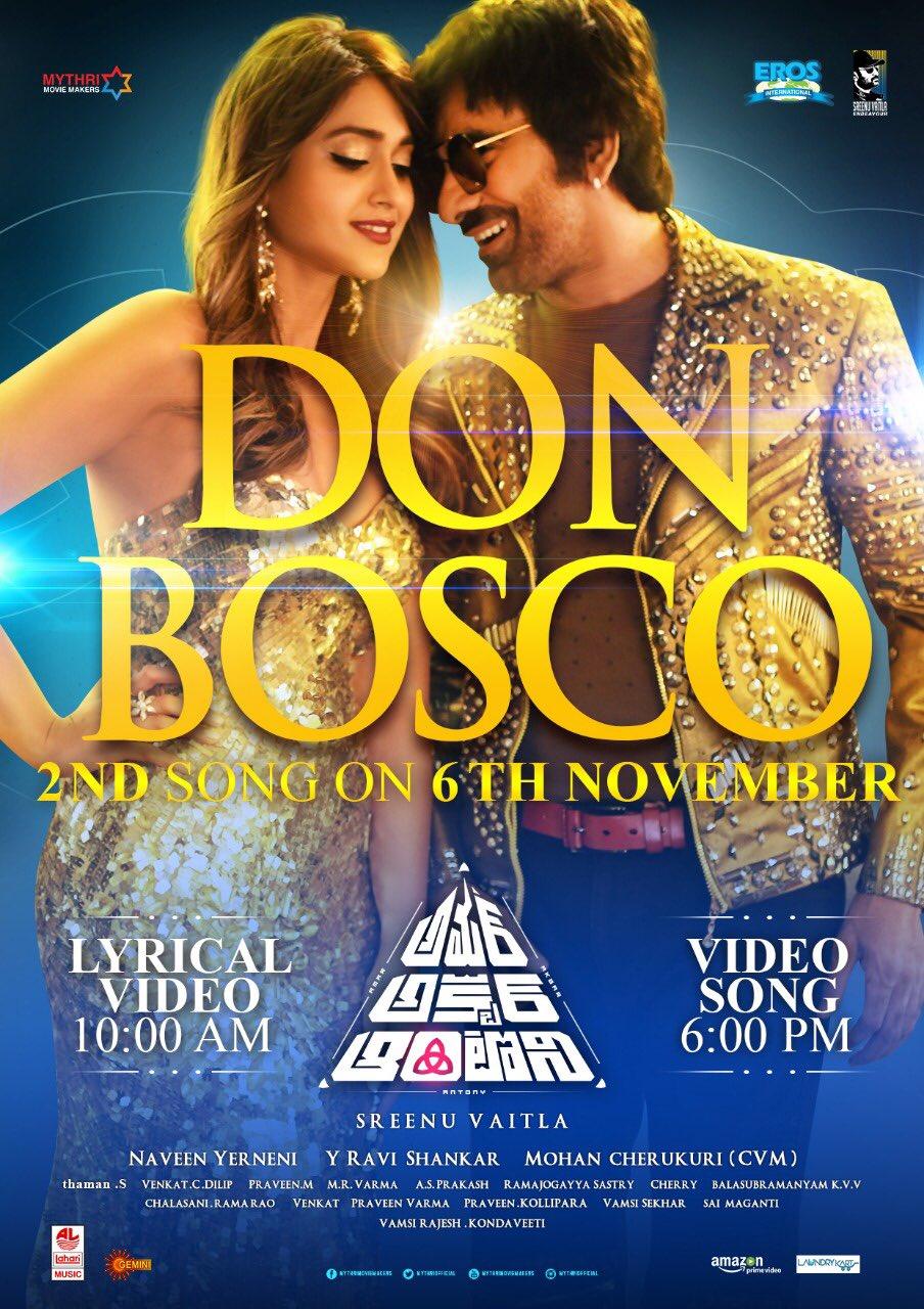 Second single #DonBosco from #AmarAkbarAnthony from tomorrow https://t.co/vHMT68KgBP