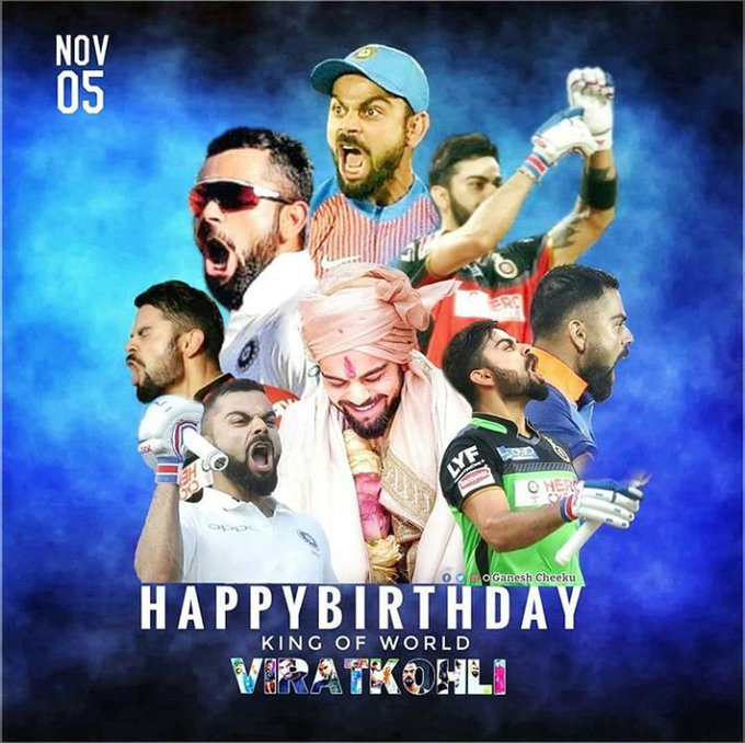 Happy birthday national\s beloved son Virat kohli