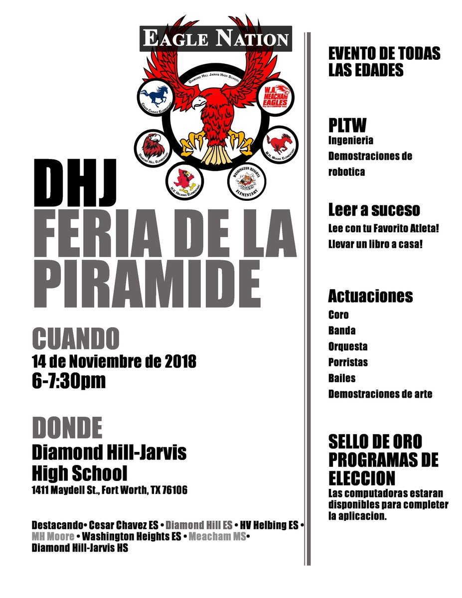 Please join us for our DHJ Pyramid Fair on November 14, 2018 from 6:00pm to 7:30pm! #AllThingsDHJ #WeAreDiamondHill