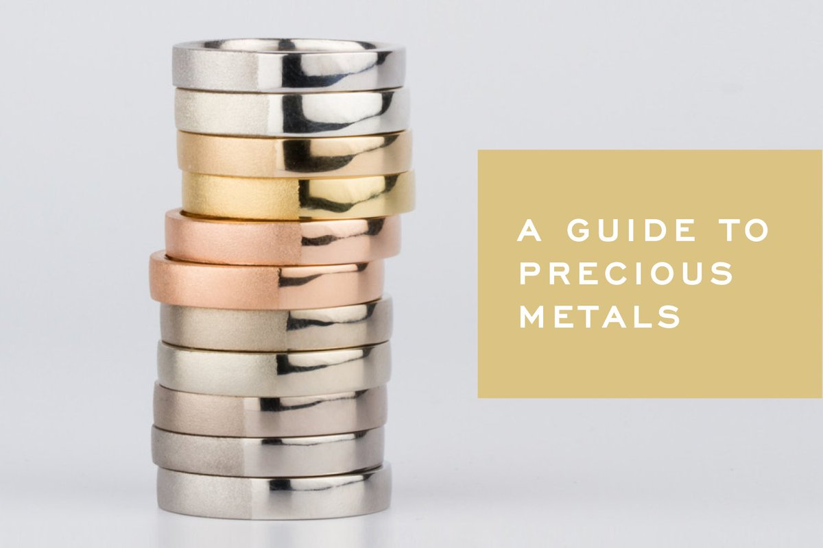 The colors and characteristics of the most popular precious metals.