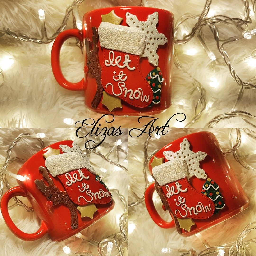 Elisavetjls On Twitter Let It Snow Let It Snow Let It Snow Handmade Polymer Clay Mug With Christmas Elemetnts Polymerclay Claynecrawford Claycreations Fimo Premo Scupley Polymerclaygreece Polymerclayartist Christmas Gifts Https T