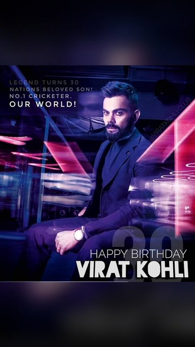 wish u a very happy birthday sir virat kohli