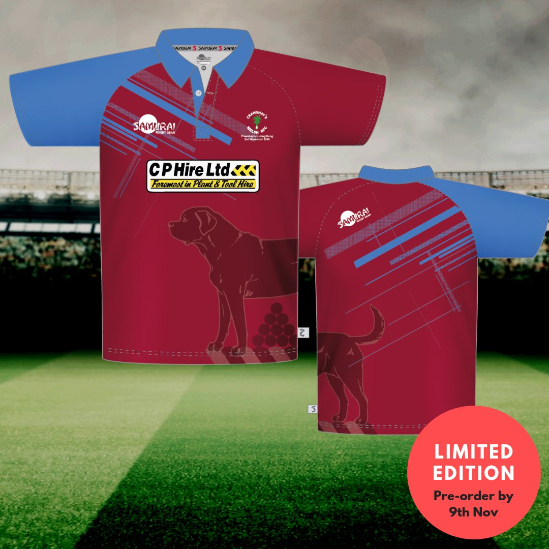 test Twitter Media - Due to popular demand and following our success in designing and manufacturing their match kit at short notice, we have made a limited edition @CrawshaysRugby supporters' replica shirt. Available to order until 5pm this Friday, November 9th>>https://t.co/sWvwHV85jG #SamuraiFamily https://t.co/0AcHHNnDNe