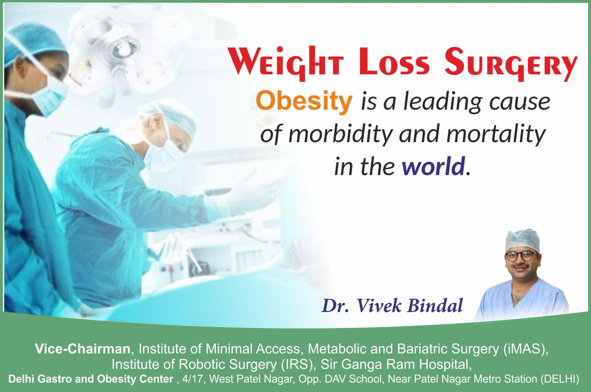 Dr Vivek Bindal On Twitter Weight Loss Surgery