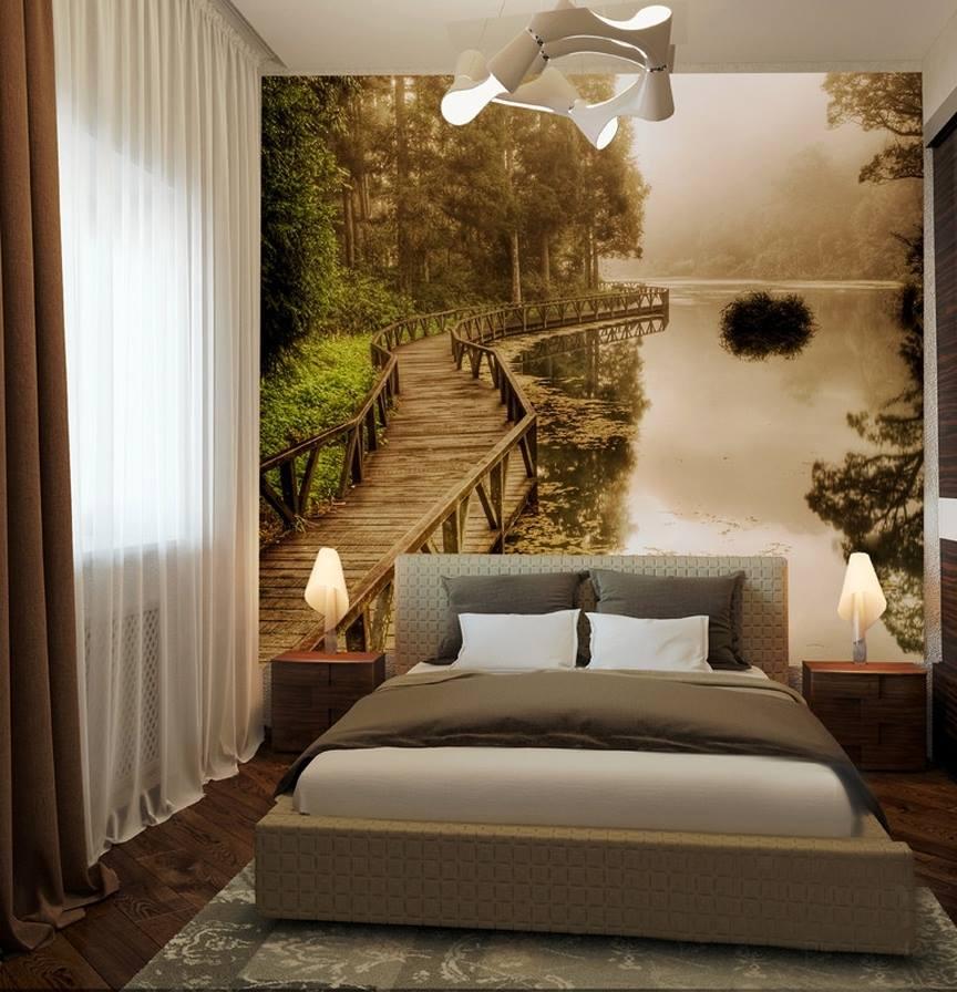 оформление спальной комнаты с фотообоями шоу перезагрузка делают