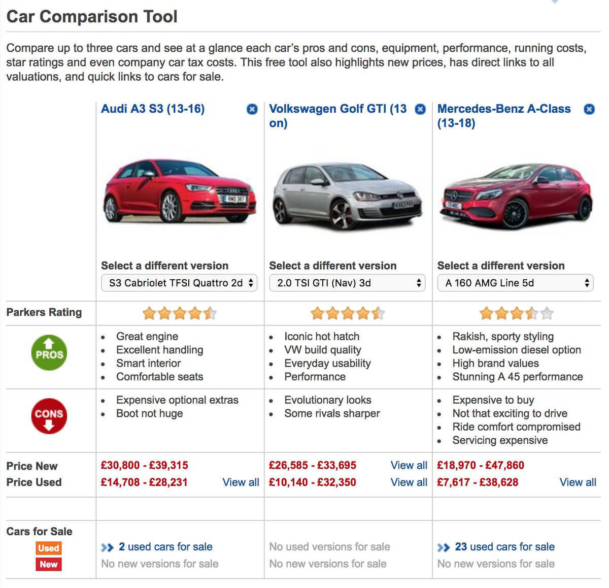 Eurodrive Finance Pa Twitter Stuck Between Two Or Three Cars Not A Problem The Car Comparison Tool From Parkers Helps You Compare Your Options In Detail Https T Co 4oa3ltiq6b Eurodrivemotorfinance Is Right Here