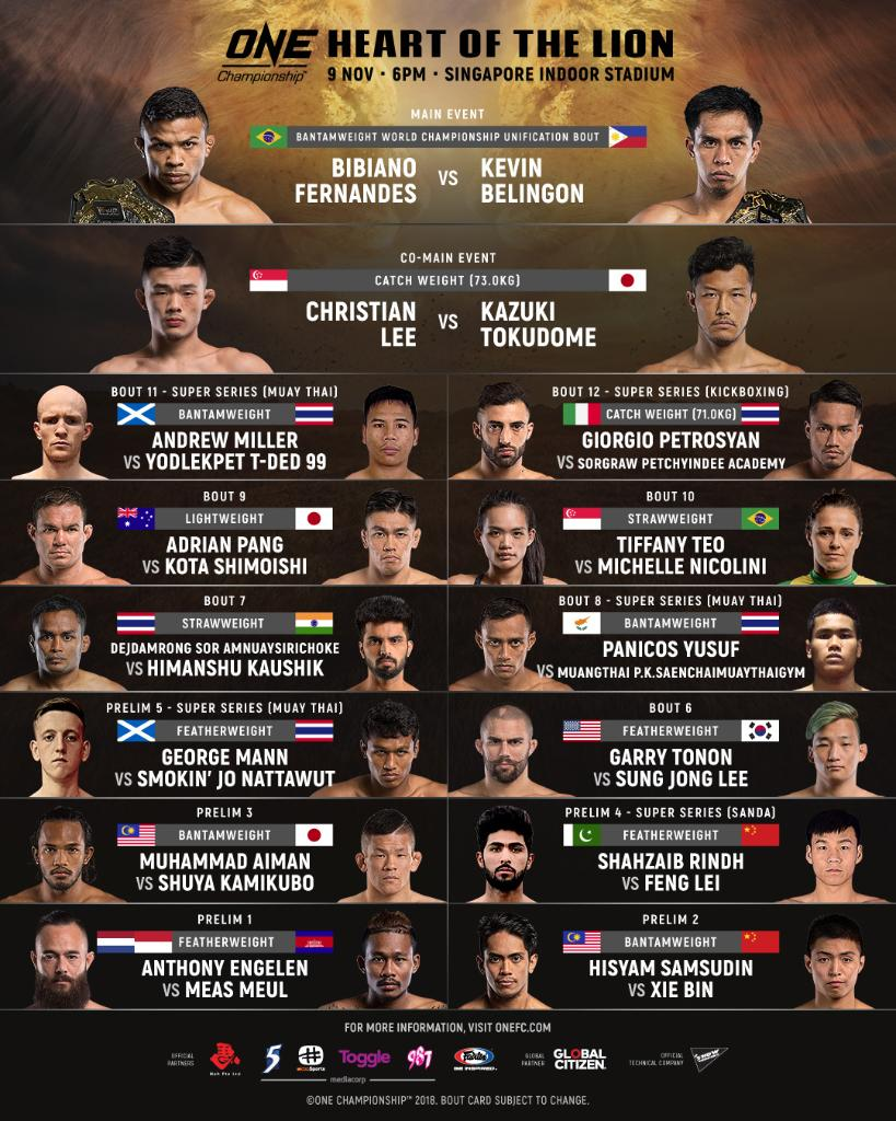 ONE Championship: Heart of the Lion - Resultados en directo. DrPg9WbWkAA28_-
