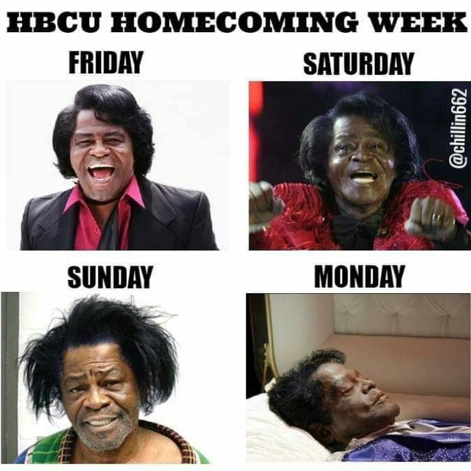 Hbcu Reunion Weekend A Twitteren But Where S The Lie Though We Say The Longer Your Recovery Time The Better The Homecoming Experience Hbcuhomecomings Hbcuhomecomingszn Hbcustudentsbelike Hbcualumsbelike Hbculove