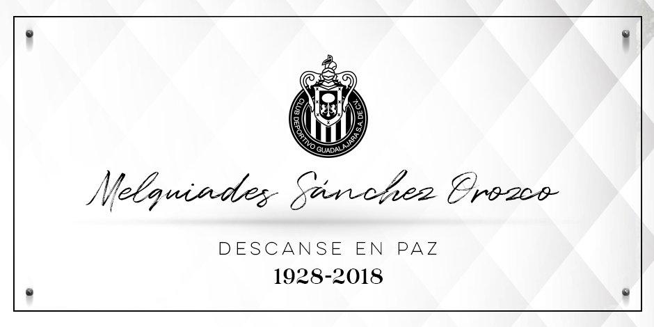 Lamentamos el fallecimiento de Don Melquiades Sánchez Orozco, voz del Estadio Azteca desde su inauguración �� https://t.co/hJIbDQcdQg