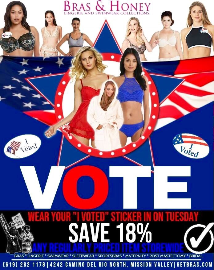 86c62c1d502a8 ... 18% OFF any regularly priced item in the store! 4242 Camino Del Rio  North  sandiegowomen  ivoted  sandiego http   GetBras.com  pic.twitter.com oaluxB84XC