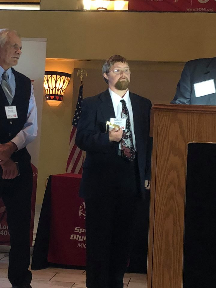 2cbbdbe3b6b ... the Special Olympics of Michigan's 50th anniversary celebration this  weekend! He received a plaque and gave a speech, just sharing words from  the heart!