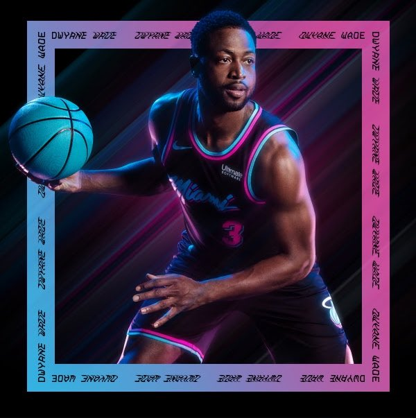 The Sports Biz On Twitter New Miami Heat Unveil Vice Nights Jerseys With Black Background Hot Pink Blue Lettering
