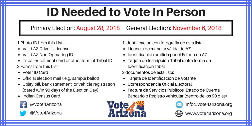 List Our 4 To Arizona Check Forms Vote Vote Here Id On Of A With Some