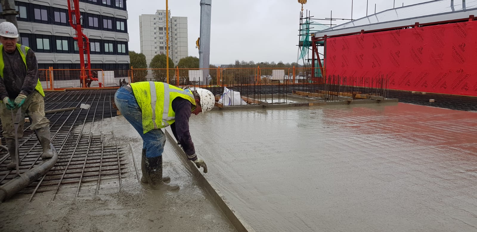 Concrete Pumped Into The 4th Floor
