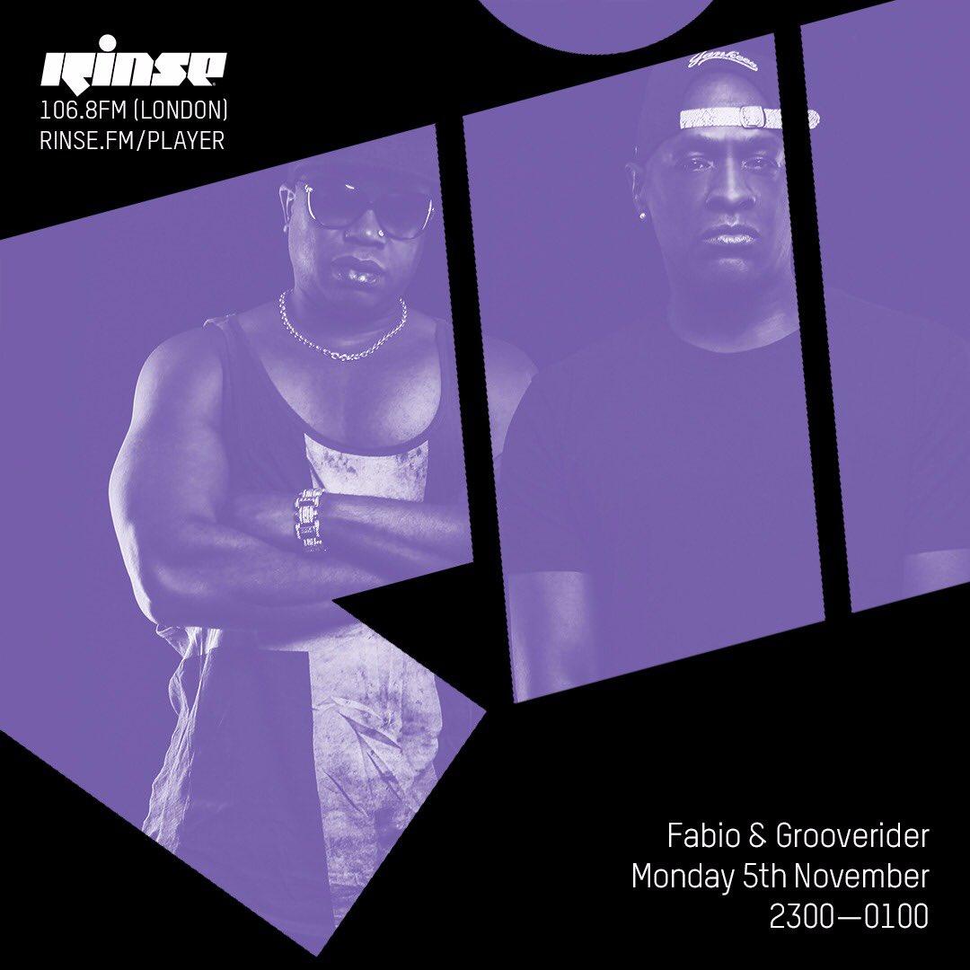 Tonight on @RinseFM 👌🏿