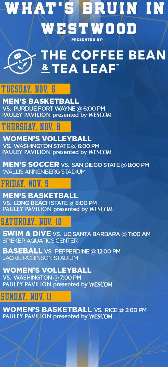 What's Bruin in Westwood this Week? #GoBruins