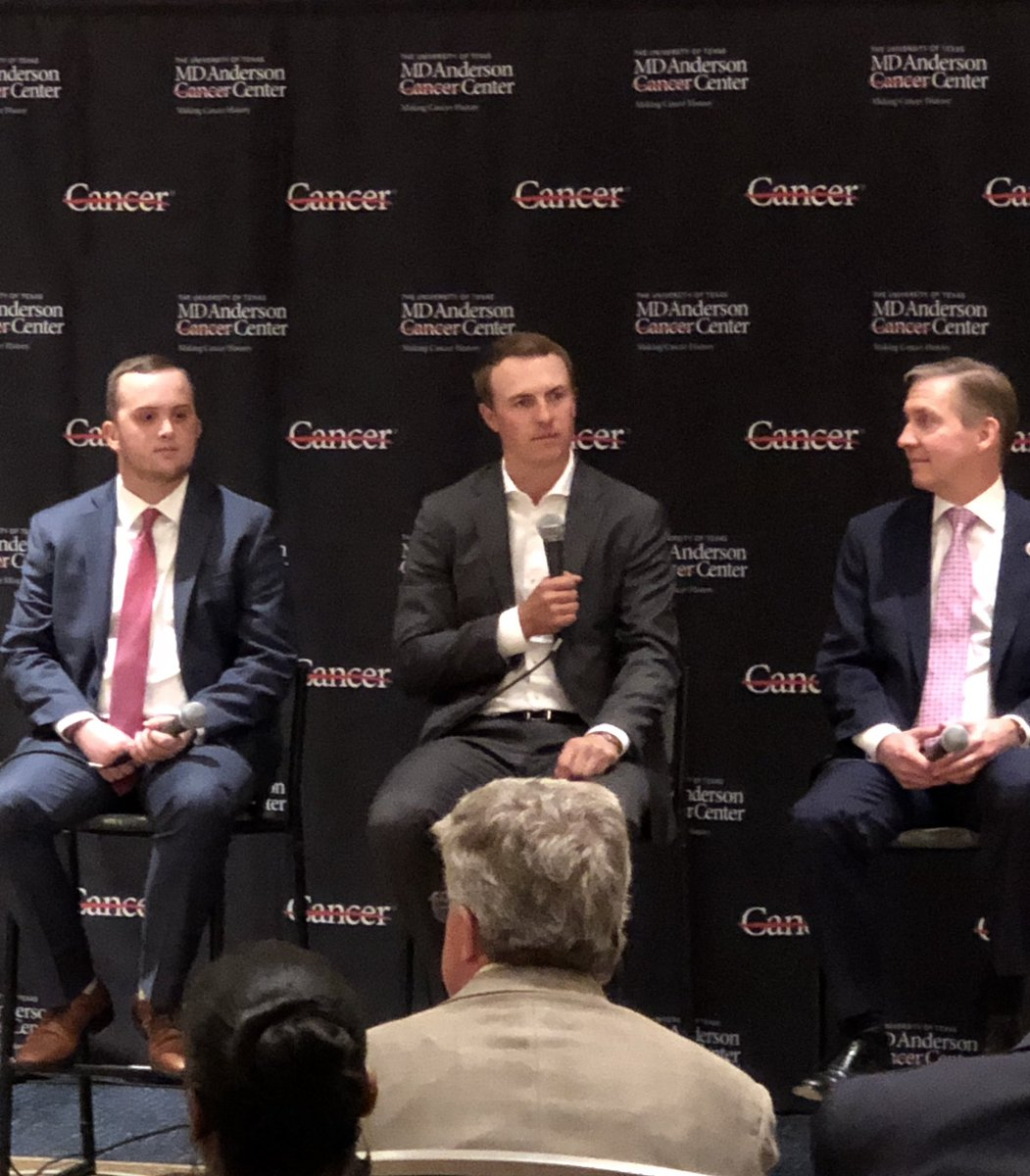 Thank you @JordanSpieth @tonyromo for an amazing Conversation with a Living Legend @CityOfDallas event, raising a record breaking $1.3 million for @MDAndersonNews to #endcancer @PGATOUR @ppisters @ssherburn @audreytrevino @MarkRolfingGC