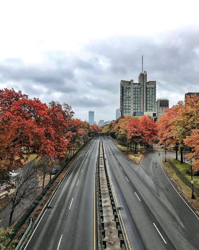 Boston, you're pretty spectacular this time of year. 🍁 [📸: Aaron Hwang (ENG'21)]