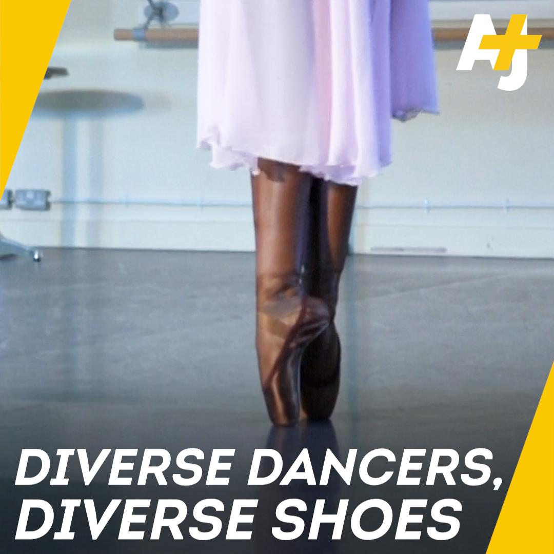 Brown and bronze ballet shoes? They're for dancers with diverse skin tones.