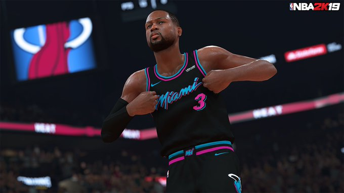 ab994cf2c Straight Heat 🔥 You can now rock the  MiamiHEAT city jerseys in  NBA2K19