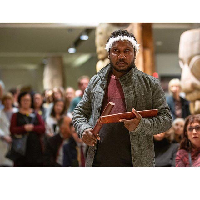 Ishmael Marika opening the 'Marking the Infinite' exhibition at the Museum of Anthropology at UBC in Vancouver. #killeropening #ceremony #yolngupower @ishmaelmarika150 #moa #ubc #schollcreative #hangingvalleyconsultancy #photocreditto @moa_ubc https://ift.tt/2AOif5epic.twitter.com/xZvHVmPtTL