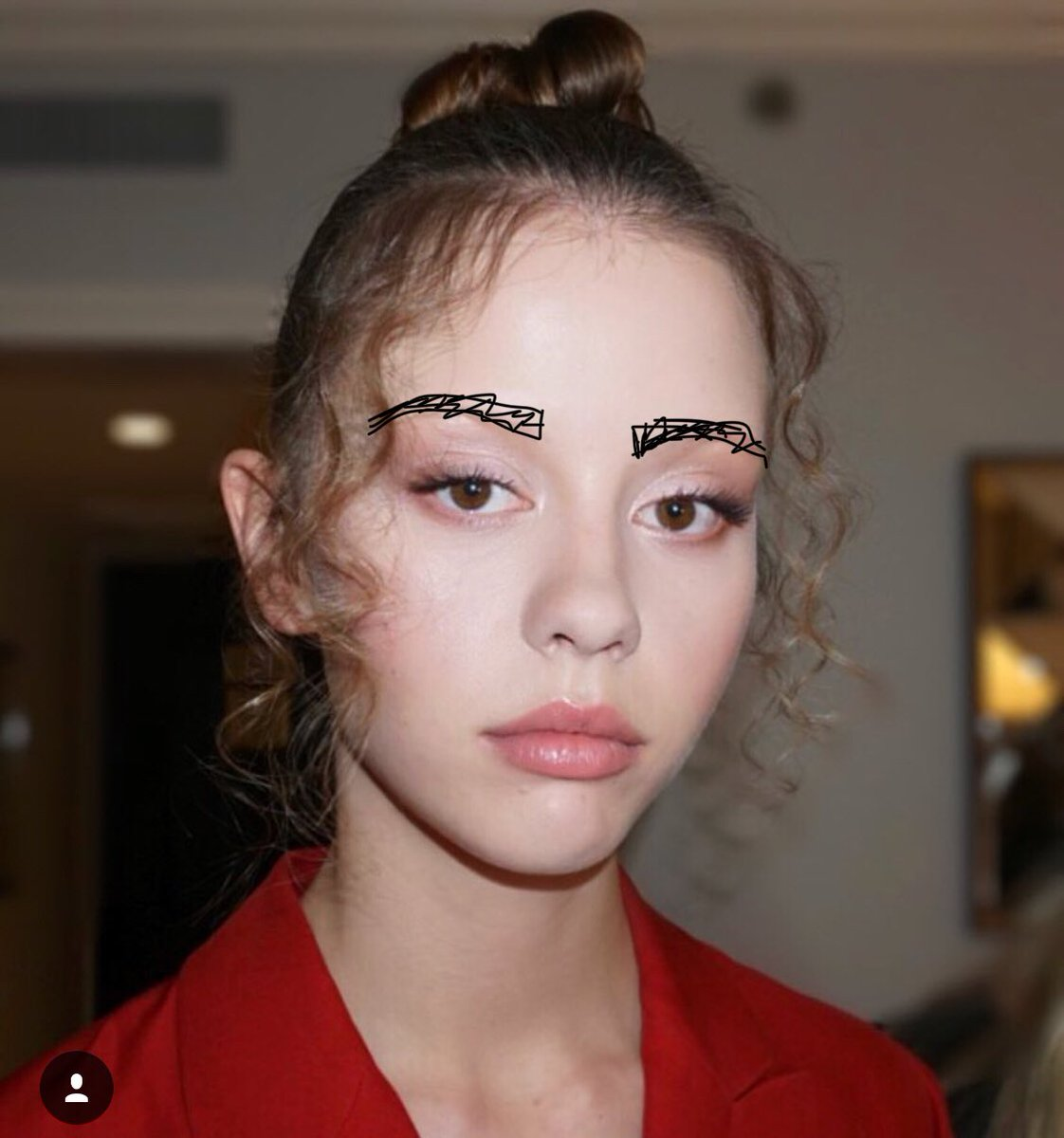 Pine On Twitter Been Drawing Eyebrows On Miss Mia Goth For