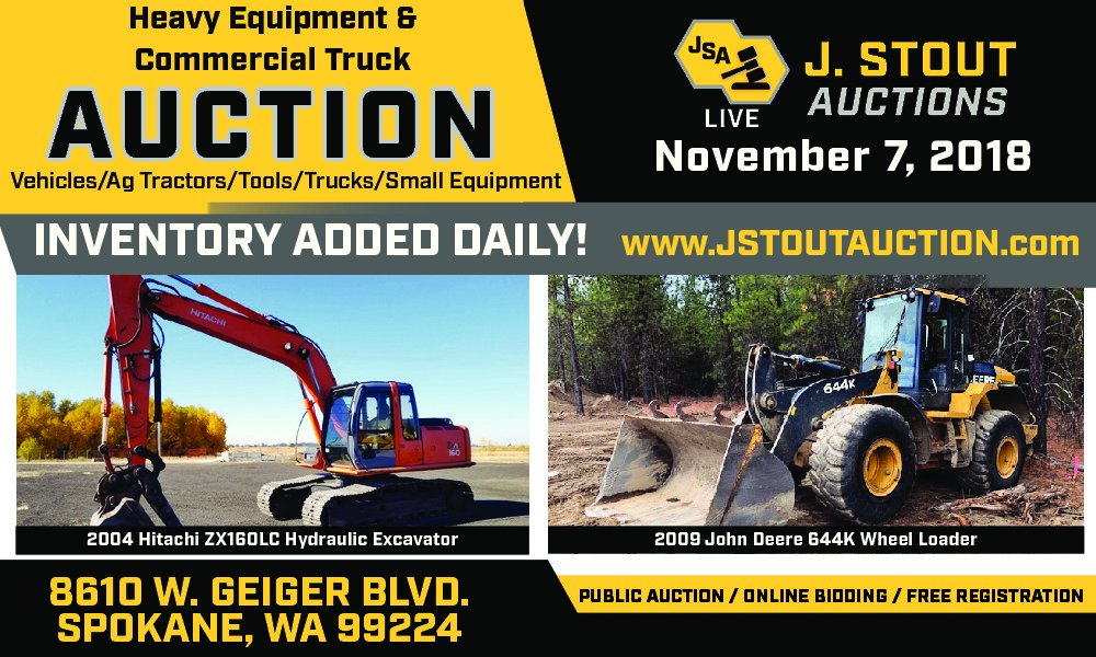 Be sure not to miss this BIG #heavyequipment #auction from @JStoutAuction in #AirwayHeights this Wednesday! <br>http://pic.twitter.com/feGUyQCtlO