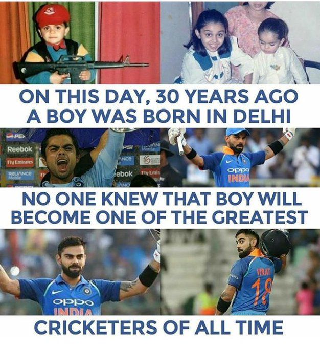 What a Man... What a Player.. What a Personality.. U Such a great Happy Birthday Virat Kohli