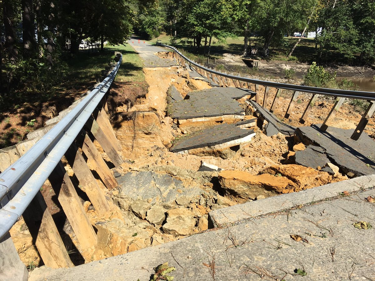 UPDATE: Emergency repair efforts continue on roads damaged by #tropicalstormmichael . Nine roads in the Fredericksburg area, Northern Neck and Middle Peninsula will require long-term repair work before they can be safely reopened to traffic  https:// bit.ly/2AOgo0d  &nbsp;  <br>http://pic.twitter.com/JBJo7VcHDN