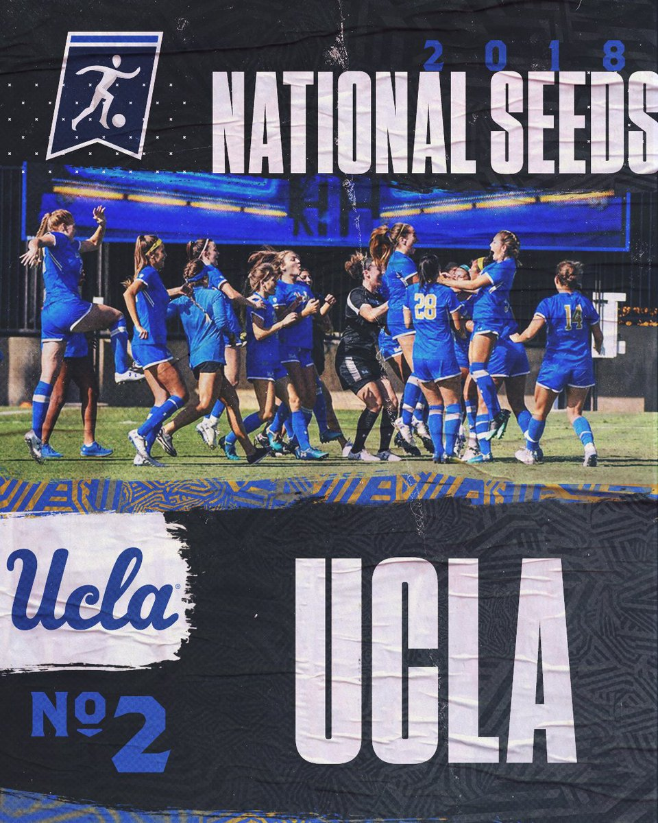 NO. 2 NATIONAL SEED IN THE BOTTOM RIGHT CORNER @UCLAWSoccer #NCAASoccer