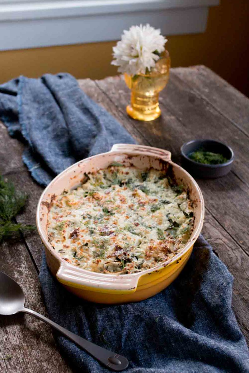 Cauliflower Rice Gratin with Kale and Leeks will be a holiday hit. #StoryofYourDinner https://t.co/PhJeslfKtJ https://t.co/eeeEcwMq8t