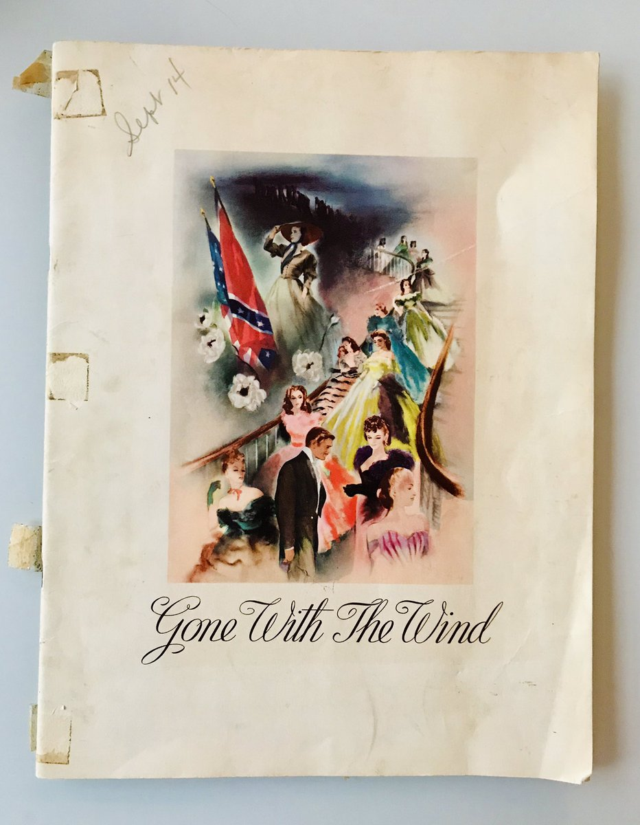 Past Pop Culture On Twitter Estate Sale Find An Original Program   For Gone With The Wind Has Cast Bios Production Notes And Essays By  Clarkgable And Vivienleigh On Rhettbutler And Scarlettohara  Respectively
