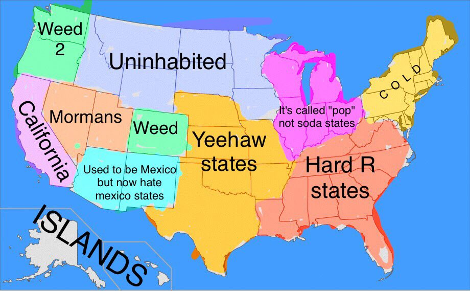 Joey S Tweet The United States Simplified Trendsmap - Soda-map-of-the-us