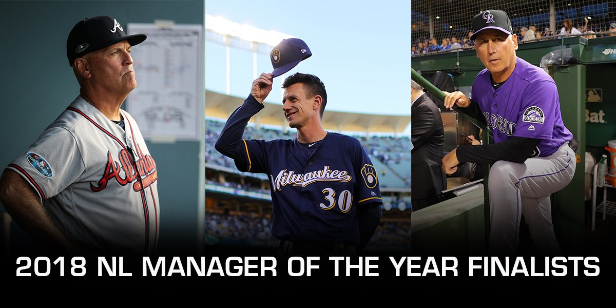 Congratulations to the 2018 NL Manager of the Year Finalists! https://t.co/p2pEy3UbDF