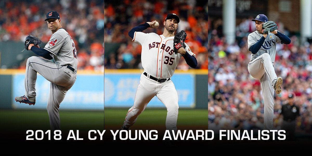 The 2018 AL Cy Young Award finalists are... https://t.co/maqA6sIevb