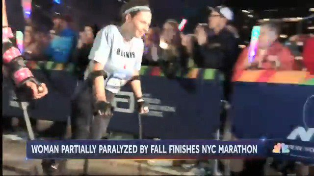 From last years #NYCMarathon: Hannah Gavios, who was left paralyzed after trying to escape a sexual assault, conquered the 26.2 miles on crutches. @LesterHoltNBC shared her story.