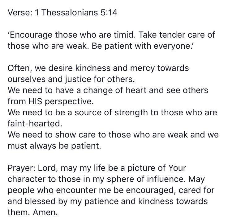 #WordForTheDay 1 Thessalonians 5 vs 14 https://t.co/qC1NCqTaJu