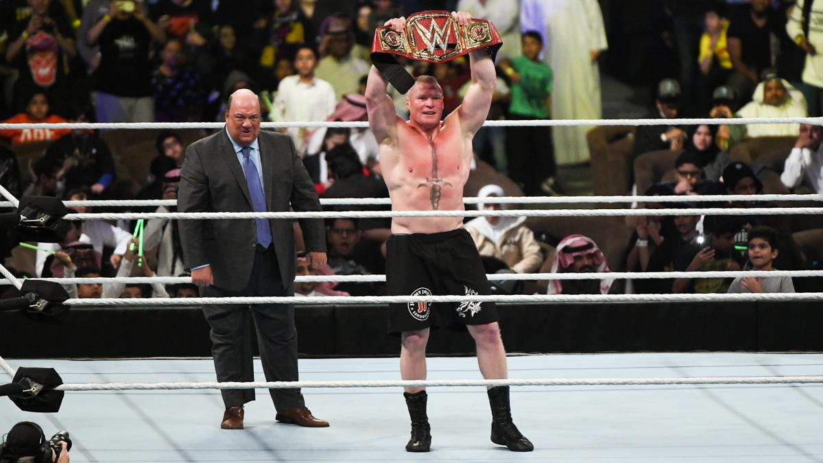 Ladies and Gentlemen, my name is #PaulHeyman … and I do not offer predictions. I deliver #spoilers. Case in point? Once again, your NEW reigning defending undisputed #UniversalChampion in @WWE …. @BrockLesnar!!!!!!!