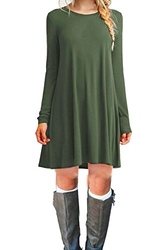 f33e11cf194 ... Deals - News - https   monkeyviral.com tinyhi-womens-casual -plain-long-sleeve-loose-swing-cotton-dress-c armygreen-small   …pic.twitter.com 584c6HMs9M