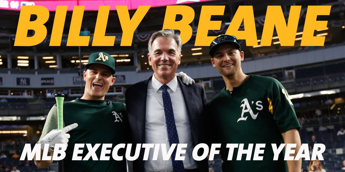 Oakland A S On Twitter Keep The Awards Comin Congratulations To Billy Beane Mlb Executive Of The Year Rootedinoakland