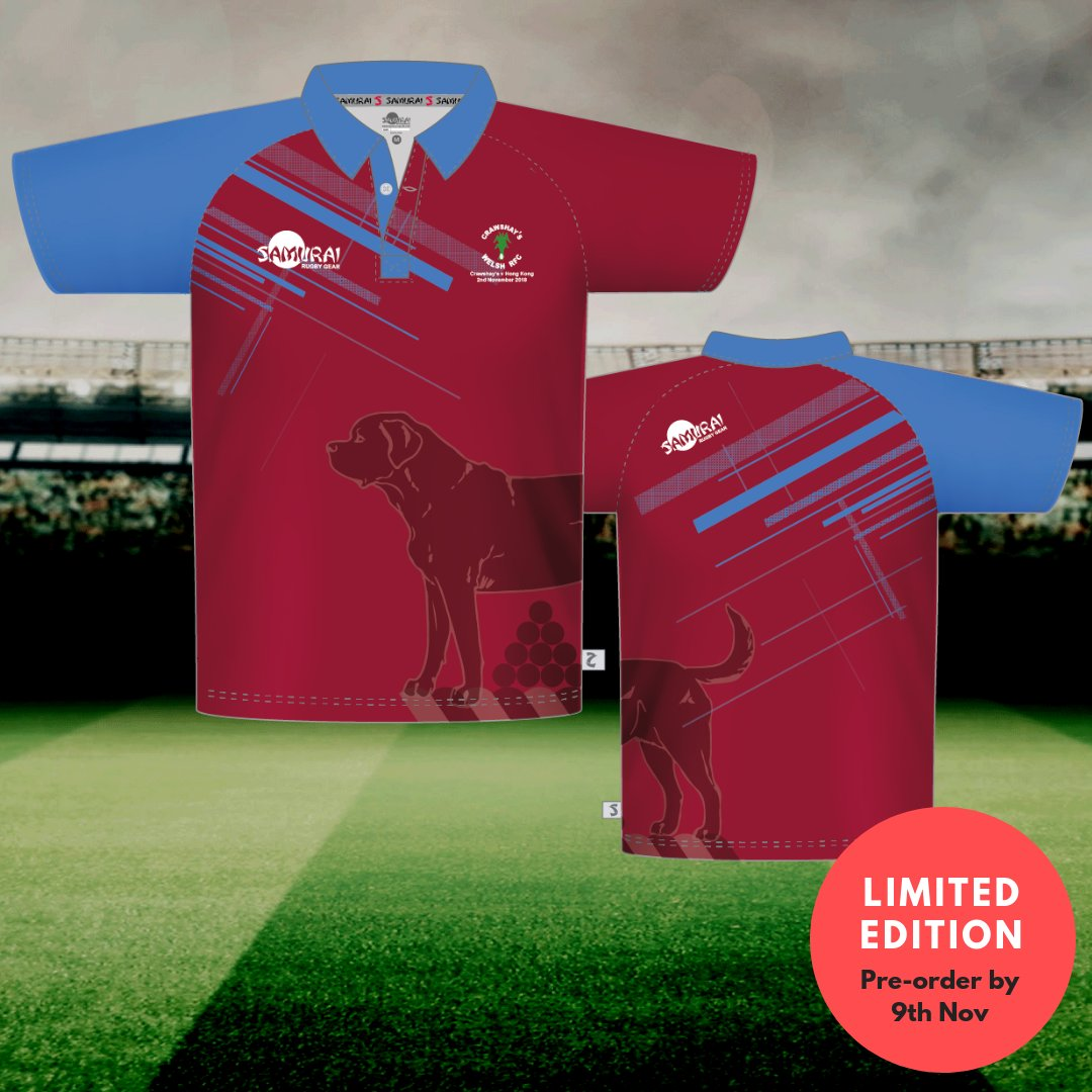test Twitter Media - Due to popular demand and following our success in designing and manufacturing their match kit at short notice, we have made a limited edition @CrawshaysRugby supporters' replica shirt. Available to order until 5pm this Friday, November 9th>>https://t.co/sWvwHV85jG #SamuraiFamily https://t.co/KCbx7ikGjt