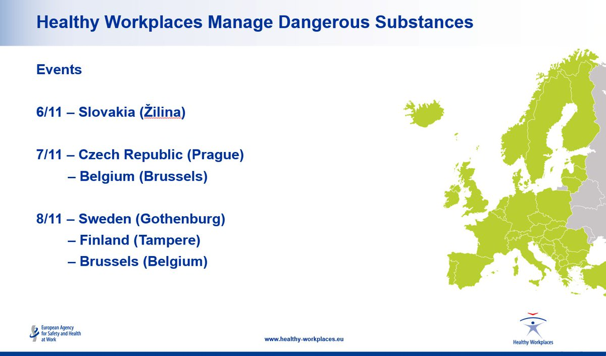 From Slovakia To Sweden Czech Republic Belgium Get Know And Join The Euhealthyworkplaces Campaign Events Taking Place This Week Across Europe